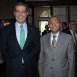 Ibrahim Abdulkarim Mansoor Obeidat, embajador de Jordania, y Yasser Mohamed Ahmed Shaban, embajador de Egipto. Revista Protocolo Copyright©