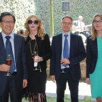 Beeho Chun, embajador de la República de Corea; Therese Margolis, Roy Kennet Eriksson, embajador de Finlandia, y Alena Gazurova, embajadora de Eslovaquia
