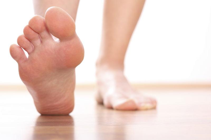 El hongo de los pie de los pinceles
