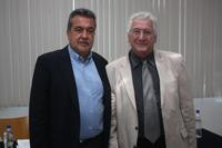 Jorge Sánchez, director general del Imcine, y Mario Bronfman, representante de la oficina de México y Centroamérica de la Fundación Ford