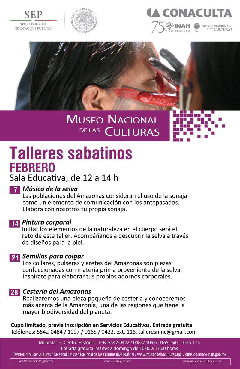 Imparten talleres de música, cestería y adornos corporales del Amazonas