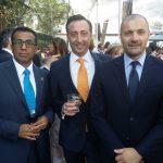 Armando Ramírez, David Salvatore Crisante y Vicenzo Mandia
