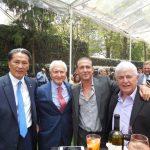 Andrian Yelemessov, embajador de Kazajstán, con Ciro Nucci, Fabrizio de Iaco y Fulvio Pecorari