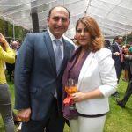 Mammad Talibov, encargado de Negocios de la Embajada de Azerbaiyán, y su esposa, Kama Talibova