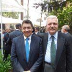 Víctor Estrada y Fikret Türkeş, encargado de Negocios A. I. de la Embajada de Turquía en México