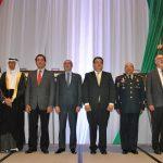 Muteb Saleh F. Almutoteh, embajador de Kuwait; Alberto Elías Beltrán, Alejandro Jaime Gómez, Armando López, Marco Antonio Guerrero y Jorge Álvarez Fuentes