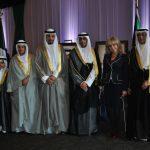 Wendy Coss, con kuwaitíes y diplomáticos de la Embajada de Kuwait en México