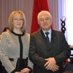 L'ubomír Hladík, embajador de Chequia, y su esposa