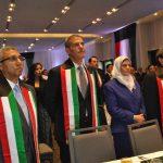 Yasser Mohamed Ahmed Shaban, embajador de Egipto; Ibrahim Abdulkarim Mansoor Obeidat, embajador de Jordania, y Muftah R. M. Altayar, embajador de Libia, y su esposa