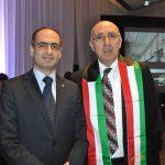 Rudy El Azi, encargado de Negocios A. I. de la Embajada de Líbano en México, y Rabah Hadid, embajador de Argelia