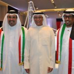 Ahmed Abdulla A. A. Al-kuwari, embajador de Qatar; Muteb Saleh F. Almutoteh, embajador de Kuwait, y Jalifa bin Zayed Al Nahayan, embajador de los Emiratos Árabes Unidos