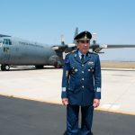 General Rodolfo Rodríguez Quezada, presidente de la Famex, presumió la pista de la Base Militar Aérea No. 1 de Santa Lucía, que lució remodelada. Foto propiedad de la revista Protocolo Copyright©