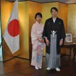 Shoko Yamada, y su esposo, Akira Yamada, embajador de Japón