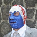 Mil Máscaras portó una máscara ad-hoc a la fiesta nacional de Japón
