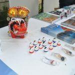 Algunos stands mostraron productos artesanales de Japón