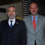 Surab Eristavi, embajador de Georgia, y Nikoloz Sakhvadze