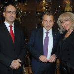 Rudy El Azzi, Gibran Bassil y Wendy Coss