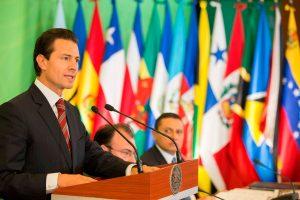 Gracias en nombre de todos los mexicanos, expresó el presidente Peña Nieto durante la inauguración del encuentro del OPANAL