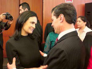 La canciller de Panamá, Isabel de Saint Malo de Alvarado, y el presidente de México, Enrique Peña Nieto