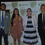 Arturo Montalván, Susana Rivero, Samantha Hernández y Claude Fromageot
