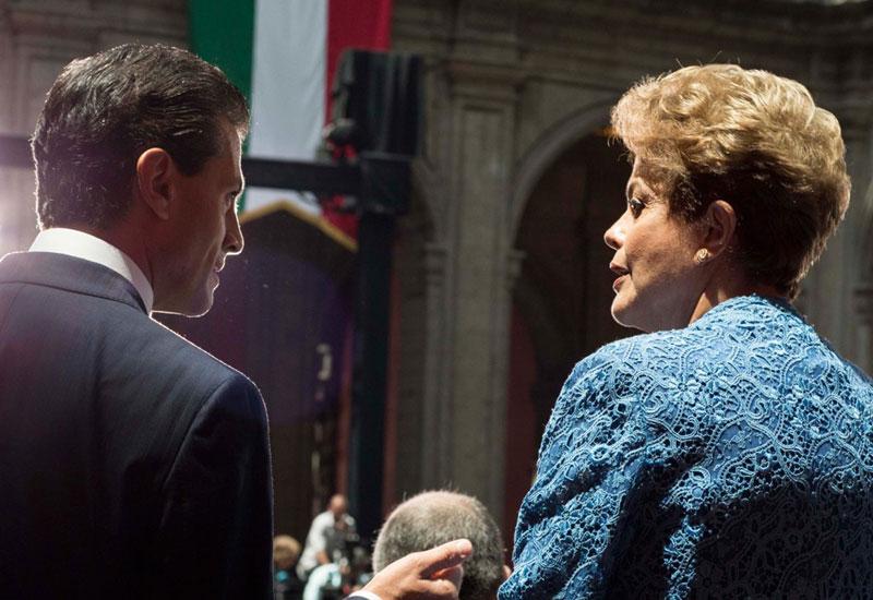 Enrique Peña Nieto y Dilma Rouseff. Foto: Juan Carlos Morales
