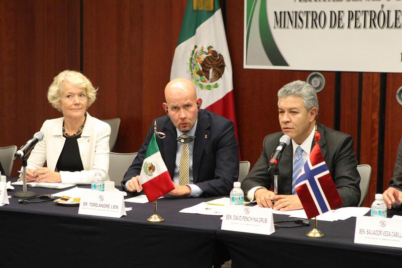 Se reúnen senadores con ministro de Petróleo y Energía de Noruega