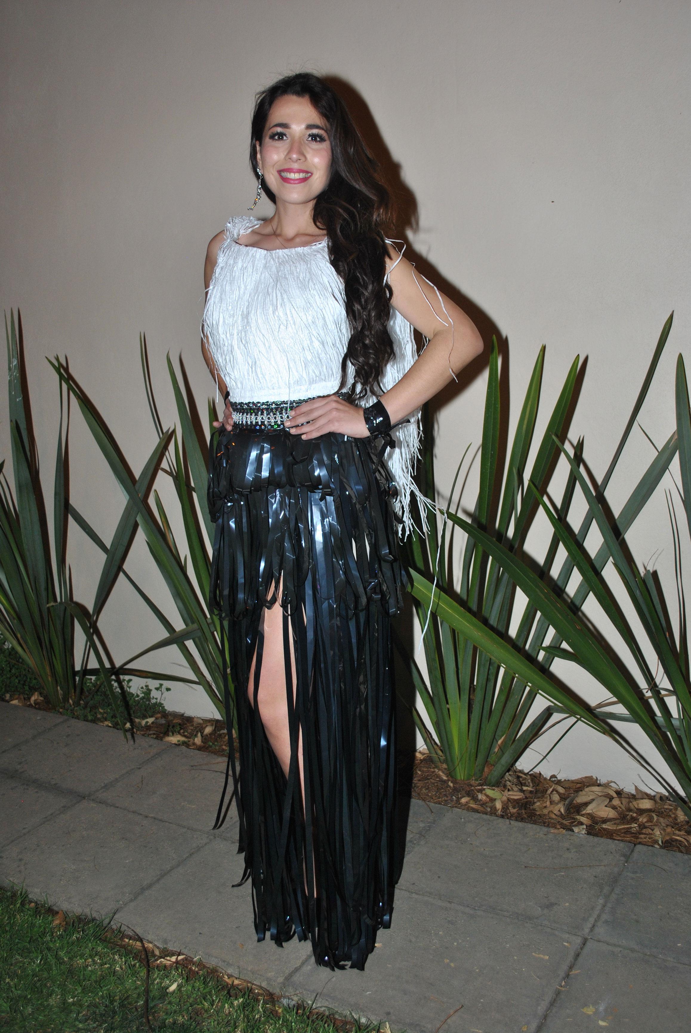 Traje reciclado: Gloria Cano, Miss Cuauhtémoc