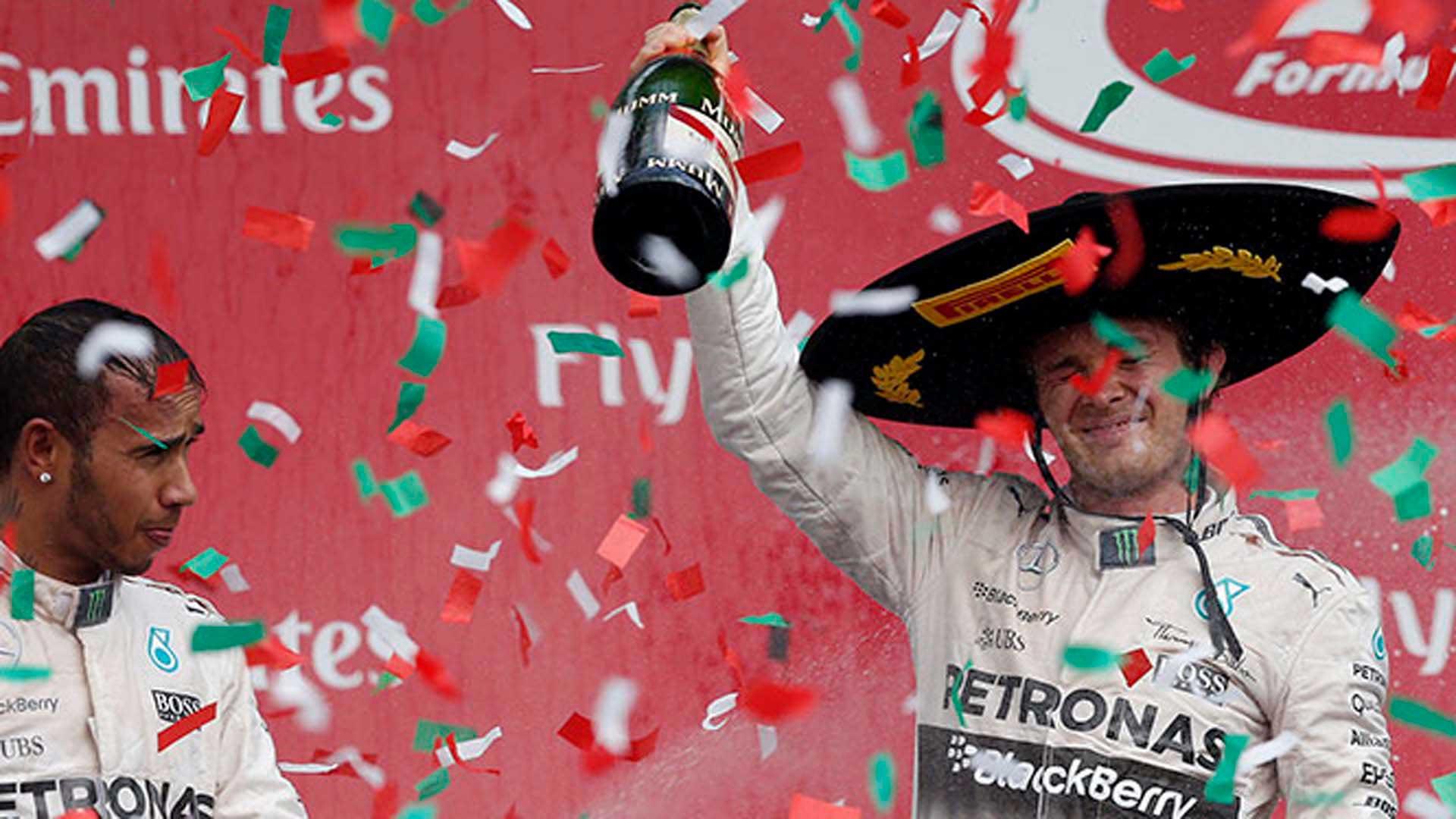 Rosberg, campeón del Gran Premio de México