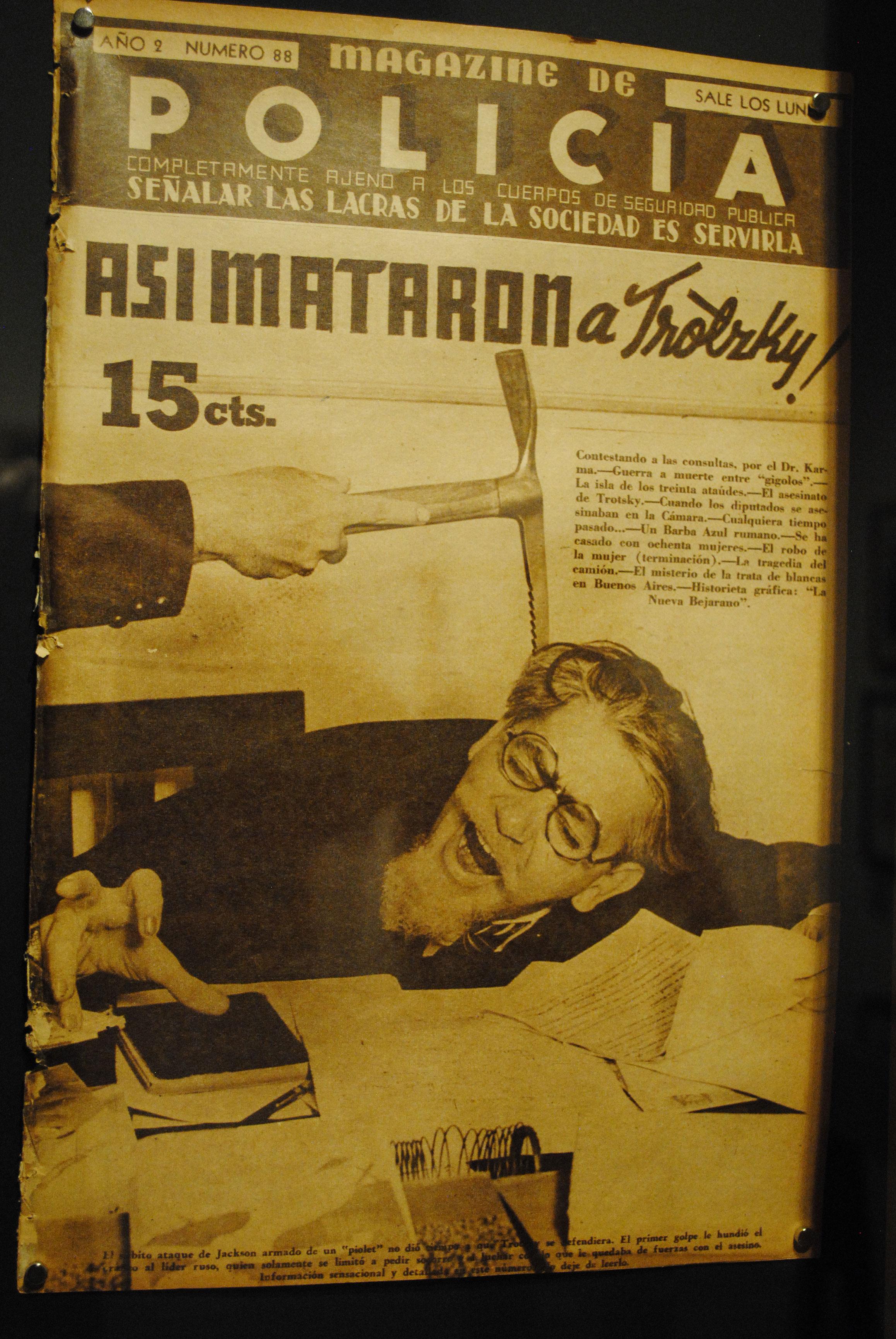 El asesinato del ucraniano León Trotsky tiene su apartado en la exposición. Foto: propiedad de la revista Protocolo Copyright©