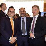 Iván García, Tasawar Khan, embajador de Pakistán, y Roy Eriksson, embajador de Finlandia