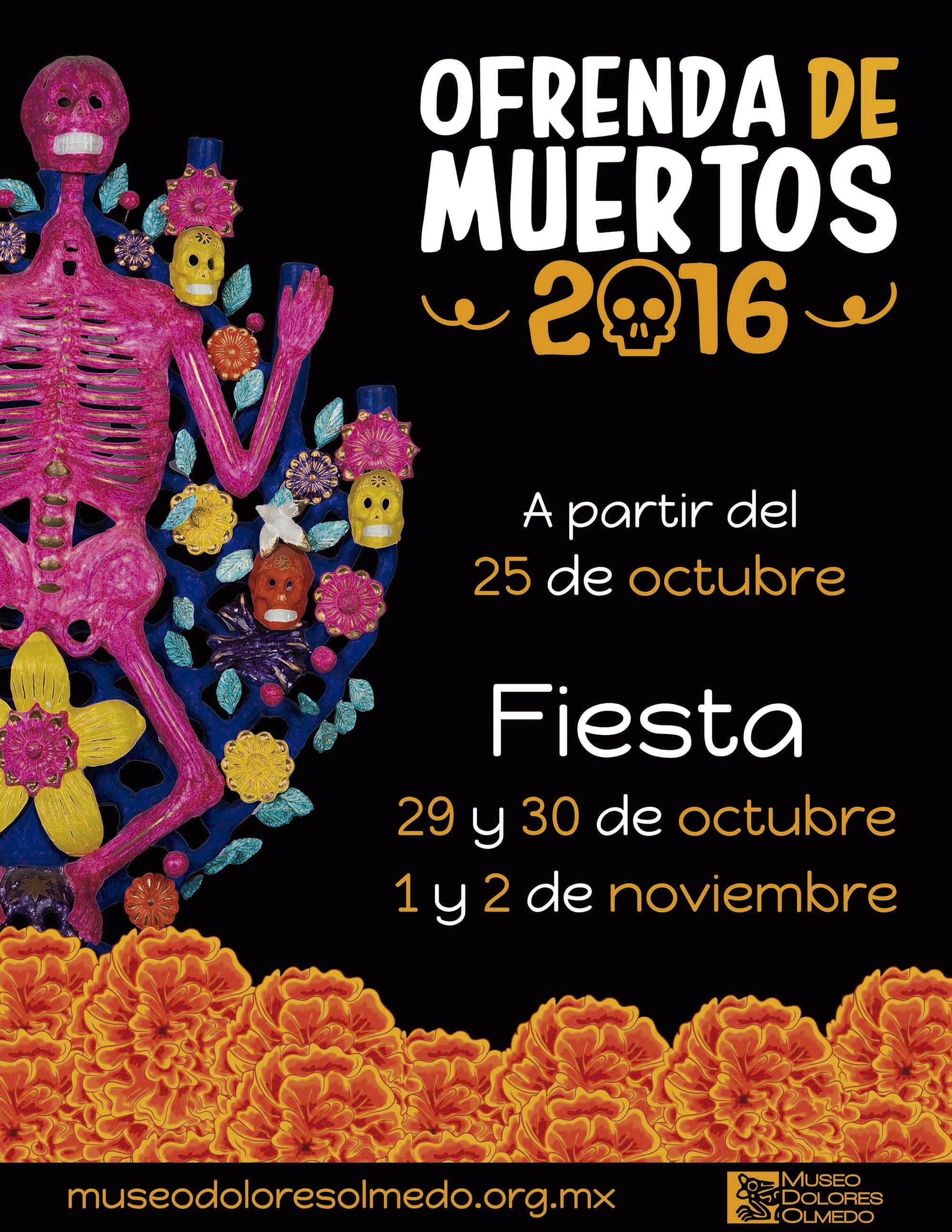 Los huesos tienen memoria, ofrenda en el Museo Dolores Olmedo