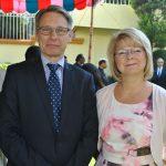Roy Kennet Eriksson, embajador de Finlandia, y su esposa Viktoria Eriksson