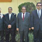 Muktesh Pardeshi, embajador de la India; Muftah R. M. Altayar, embajador de Libia; Hammad G. M. al Rowaily, embajador de Arabia Saudita, y Ahmed Abdulla A. A. Al-Kuwari, embajador de Qatar