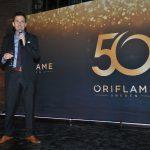 Santiago Salazar, presidente de Oriflame México, en su carácter de anfitrión, dirigió el festejo