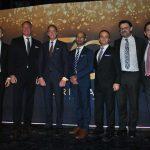 Directivos de Oriflame: Bjorn Jansson, Magnus Brännstrom, presidente de Oriflame; Johan Rosenberg, Robin Chibba, Héctor Betancur, Alain Mavon e Iván Olvera