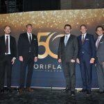 Directivos de Oriflame: Héctor Betancur, Bjorn Jansson, Magnus Brännstrom, presidente de Oriflame; Alain Mavon, Johan Rosenberg, Iván Olvera y Mikael Bjorkmyk