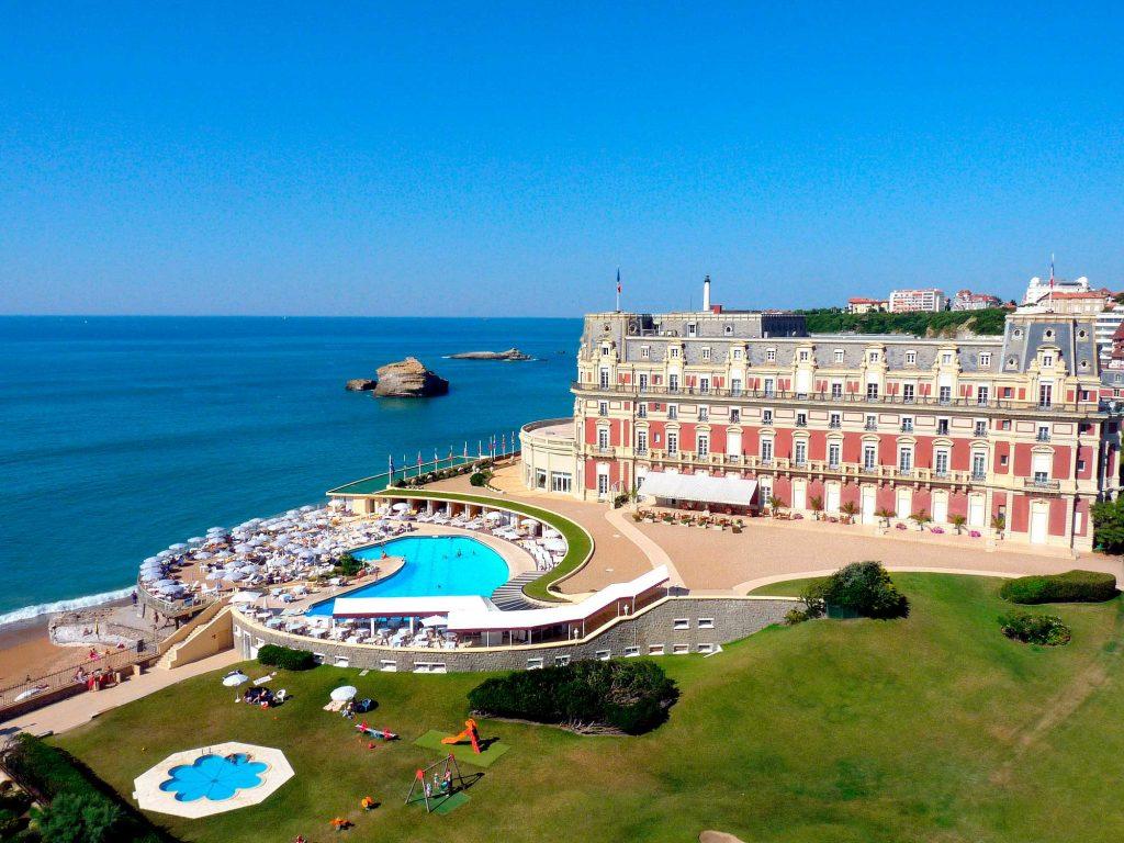 Hotel du Palais, ícono de Biarritz, Francia