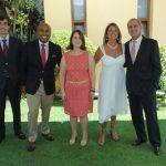 Portugueses celebran en la residencia del embajador