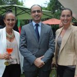 Ludia Ladurner, Rudy El Azzi, encargado de Negocios A. I. de la Embajada de Líbano en México, y Pliszka Eudel. Revista Protocolo Copyright©