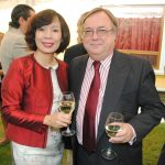 Linh Lan Le, embajadora de Vietnam, y Daniel Chuburu, embajador de Argentina. Revista Protocolo Copyright©