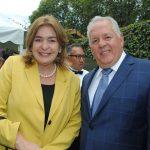 Patricia Cárdenas, embajadora de Colombia en México, y Manuel Ricardo Pérez González, embajador de Panamá. Revista Protocolo Copyright©