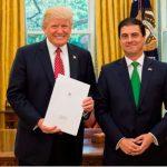 Embajador Gerónimo Gutiérrez presenta cartas credenciales a Trump