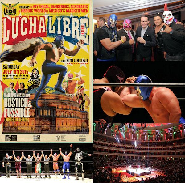 16 luchadores enmascarados se presentan en el Royal Albert Hall