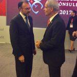 Primer encuentro del embajador Peled con Luis Videgaray