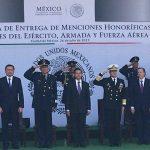 Peña premia a fuerzas armadas por acción destacada contra delincuencia