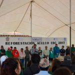 EBC organiza reforestación de 4 mil árboles en Aculco, Edomex