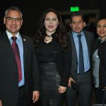 Pablo Basáñez, Georgina Zapata, presidenta del Grupo de Amistad México-Rumania de la Cámara de Diputados; Tania Flores y Efrén Chávez