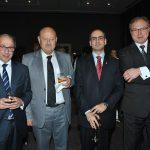 Ará Aivazian, embajador de Armenia; Valentín Petrov Modev, embajador de Australia; Rudy El Azzi, encargado de Negocios A. I. de la Embajada de Líbano en México, y Ruslán Spirin, embajador de Ucrania