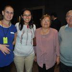 Miharka Andrei, con Mikaela, María y Neculai Nistor