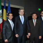Jorge Luis Salome, Ion Vilcu, embajador de Rumania; Mauricio Peñate y Giorgio Petrusan